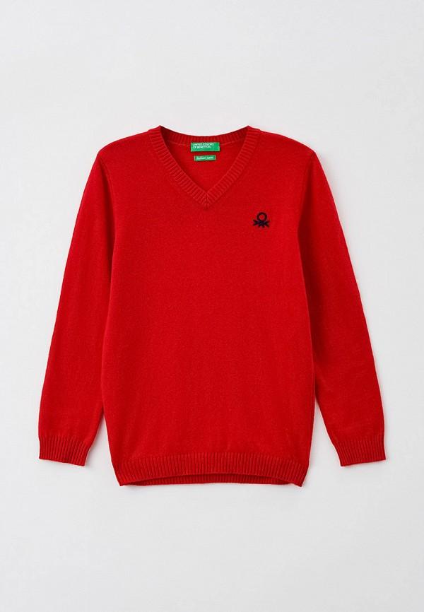 пуловер united colors of benetton для мальчика, красный