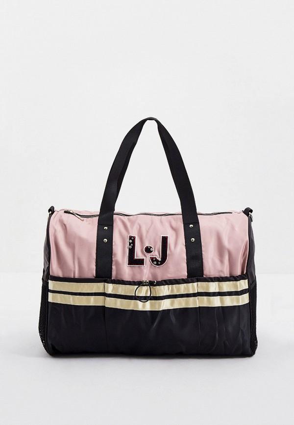 женская дорожные сумка liu jo sport, розовая