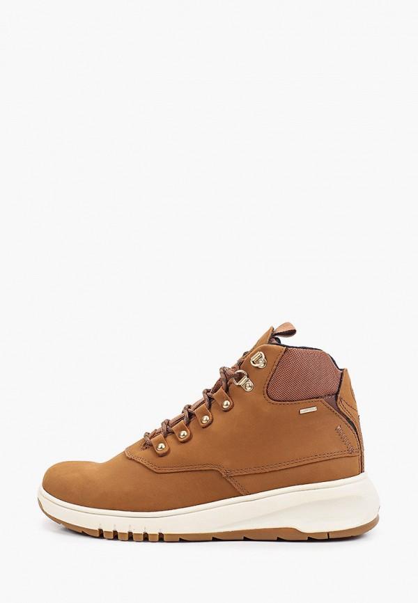 женские кроссовки geox, коричневые