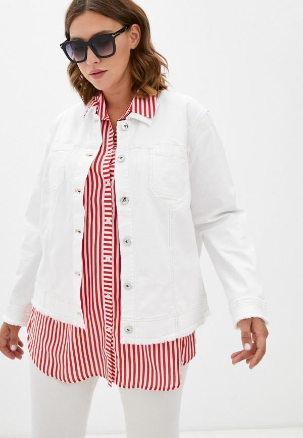 женская джинсовые куртка samoon by gerry weber, белая