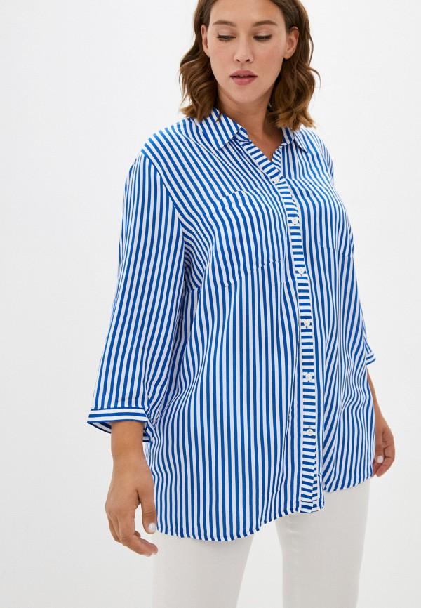 женская блузка с длинным рукавом samoon by gerry weber, синяя