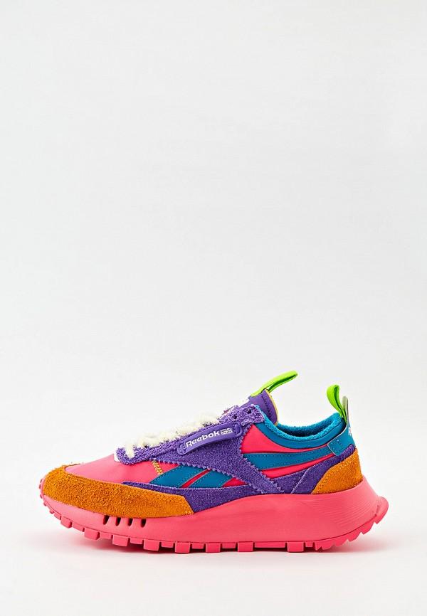 женские низкие кроссовки reebok classic, разноцветные