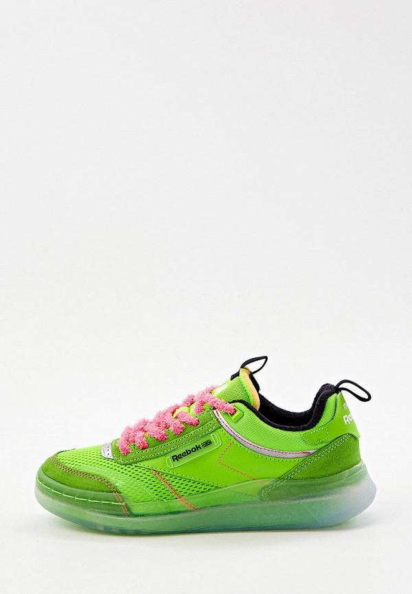 женские низкие кроссовки reebok classic, зеленые