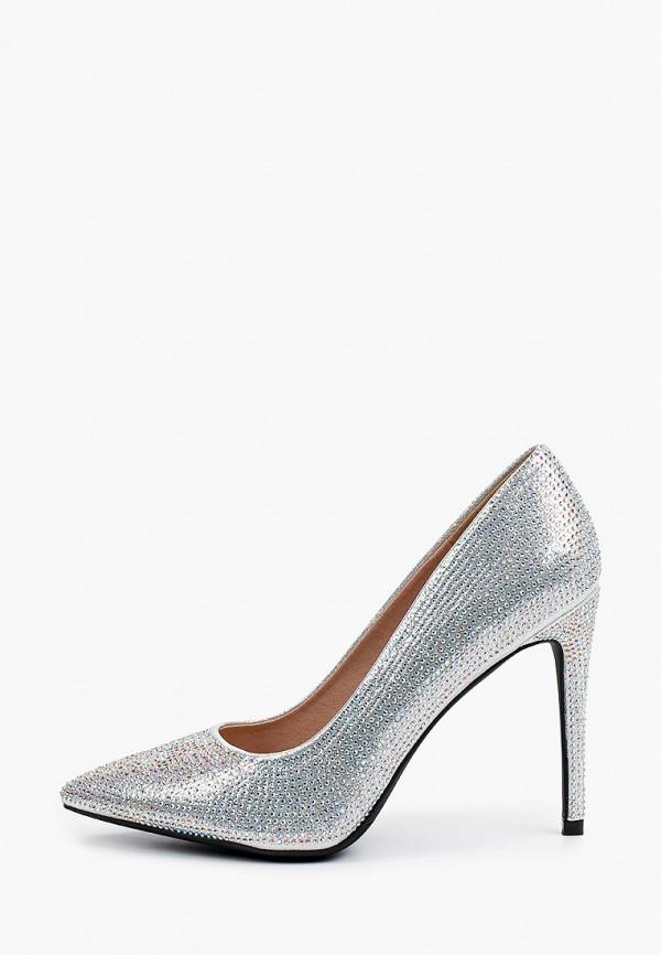 женские туфли-лодочки diora.rim, серебряные