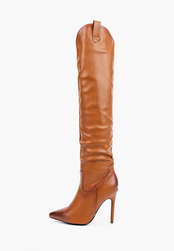 женские сапоги super mode, коричневые