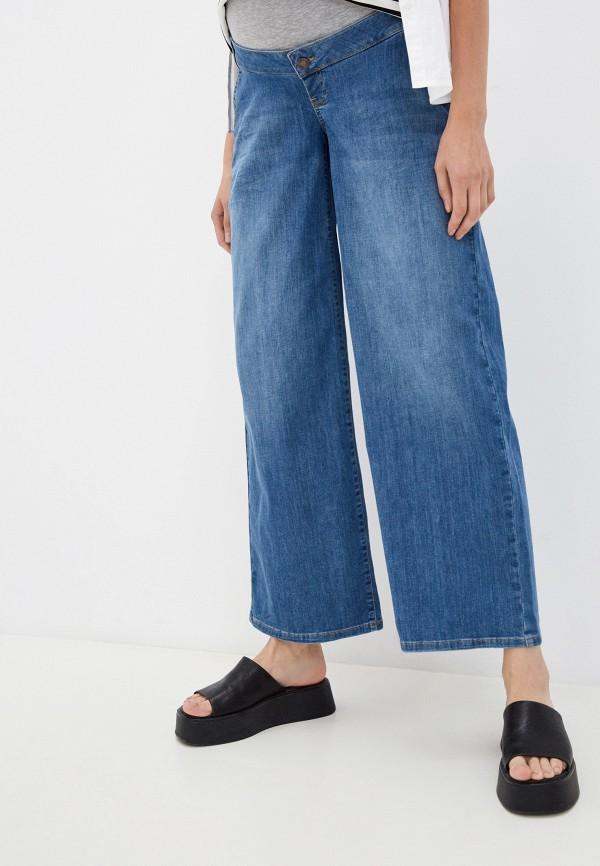 женские джинсы клеш mamalicious, синие