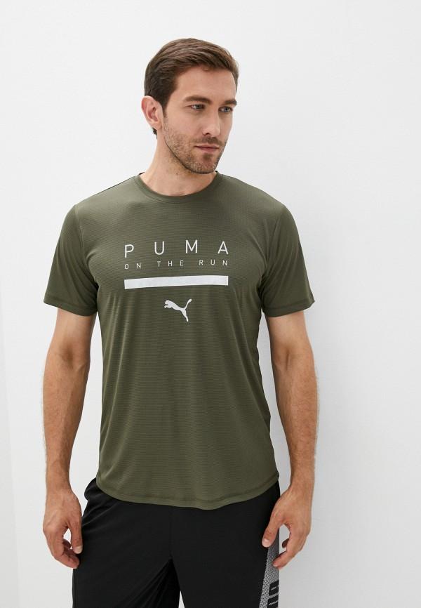 Футболка спортивная PUMA цвета хаки