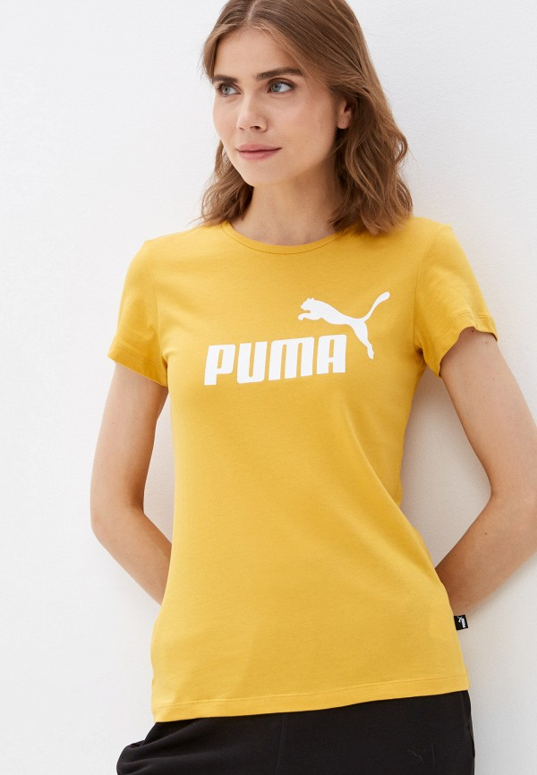 женская спортивные футболка puma, оранжевая