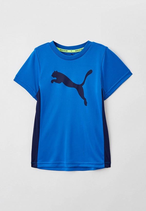 футболка с коротким рукавом puma для мальчика, синяя
