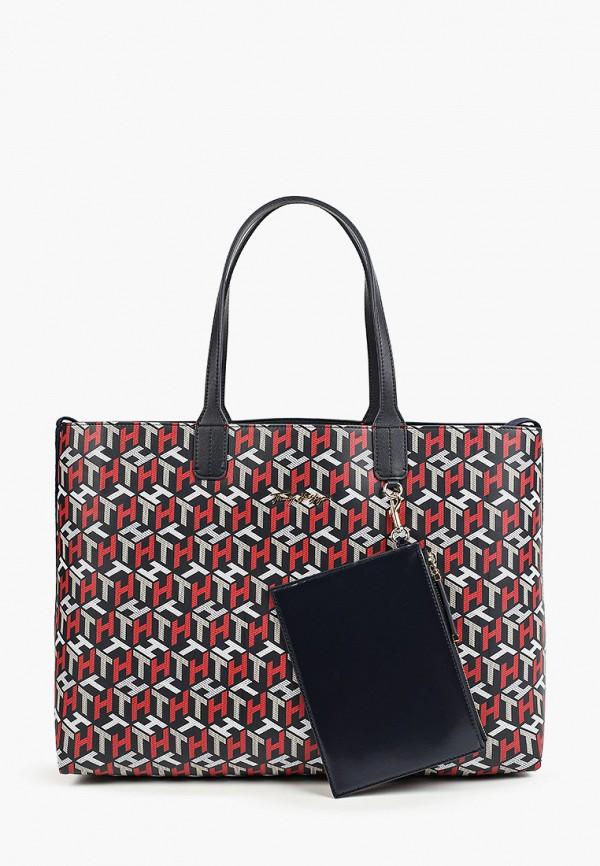 женский кошелёк-шоперы tommy hilfiger, разноцветный