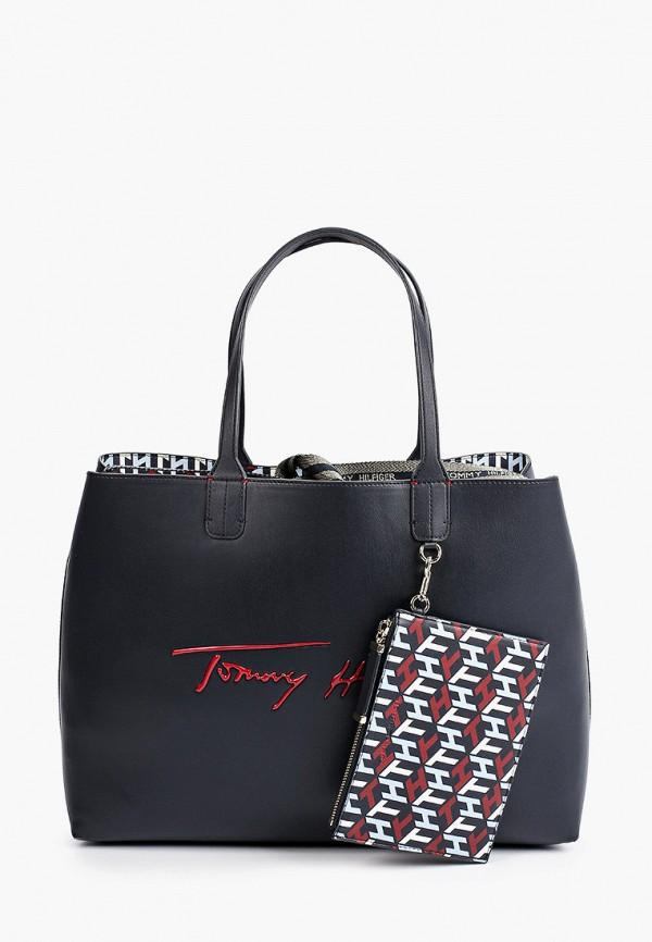 женский кошелёк-шоперы tommy hilfiger, синий