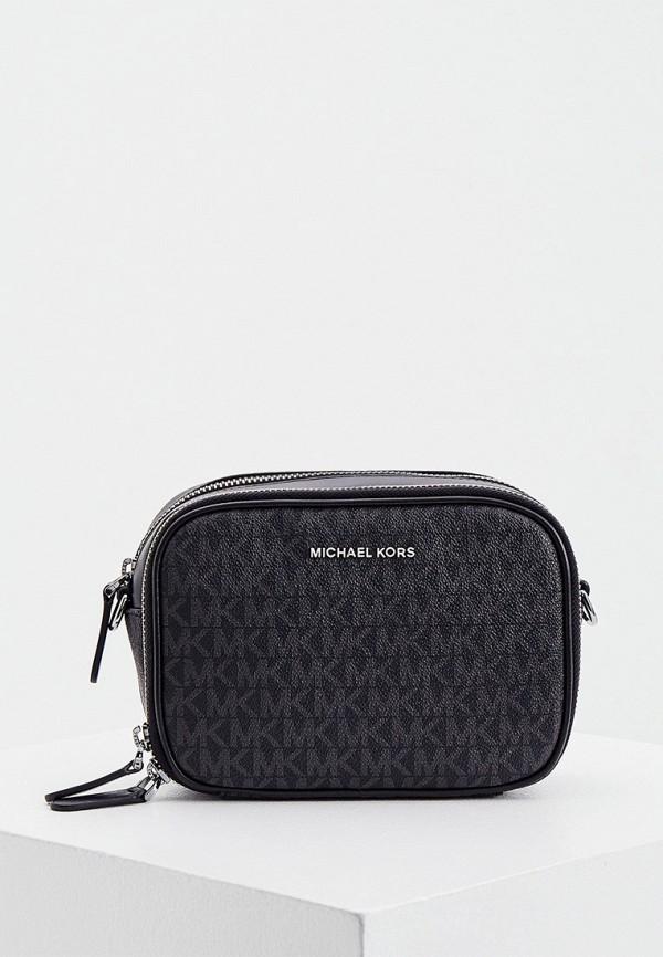 мужская сумка через плечо michael kors, черная