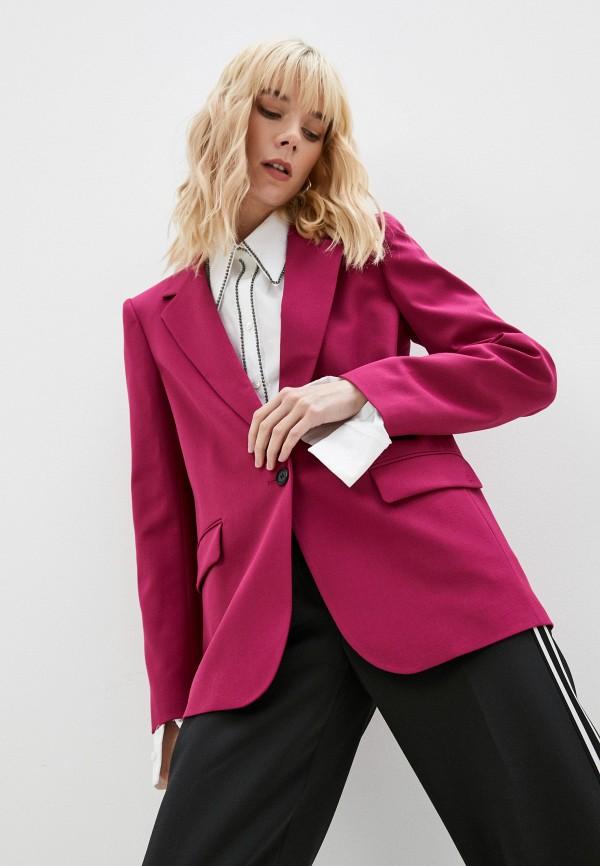 женский пиджак karl lagerfeld, розовый