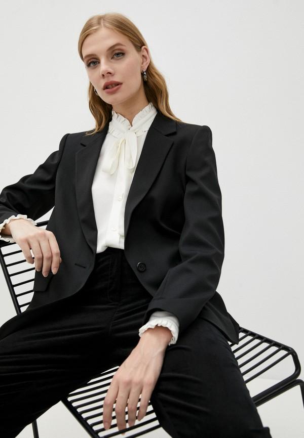 женский пиджак karl lagerfeld, черный