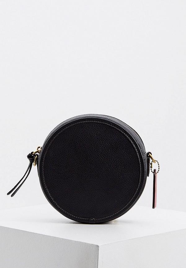 женская сумка через плечо coach, черная