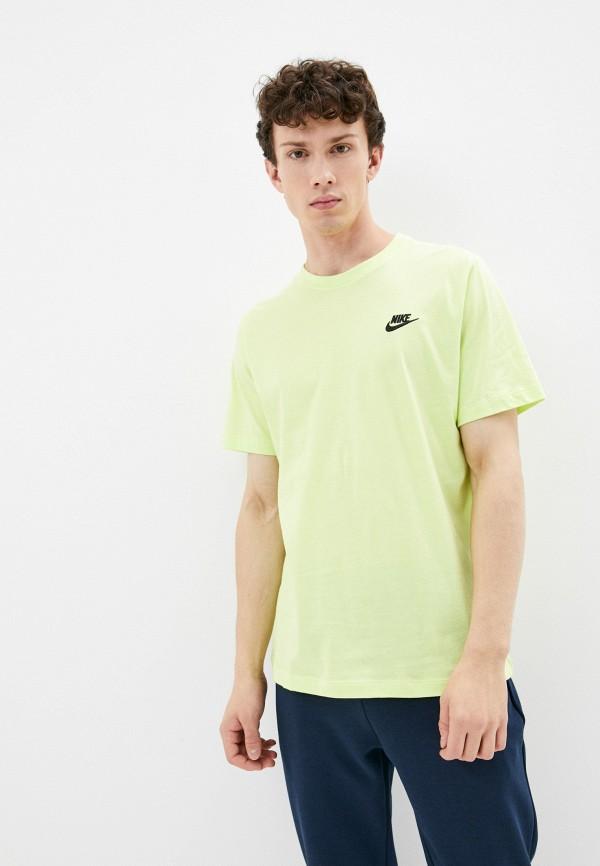 мужская футболка с коротким рукавом nike, зеленая