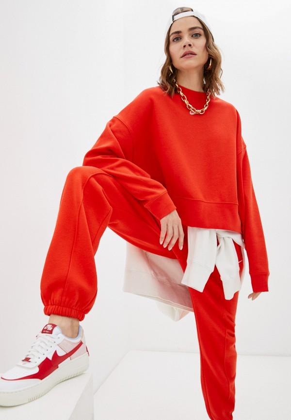 женский спортивные свитшот nike, красный