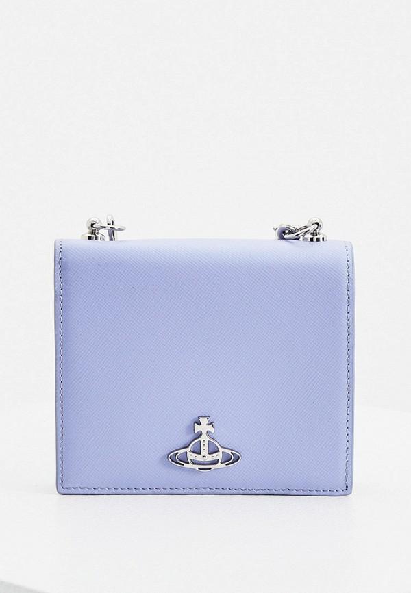 женский кошелёк vivienne westwood, голубой