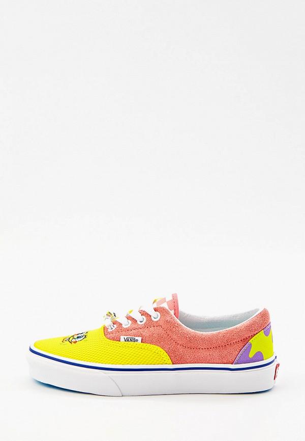 женские низкие кеды vans, разноцветные