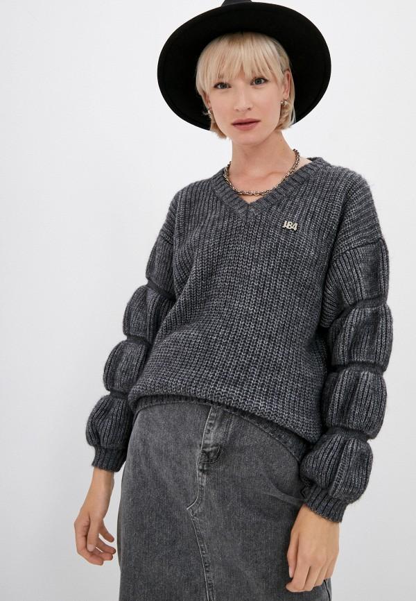 женский пуловер j.b4, серый