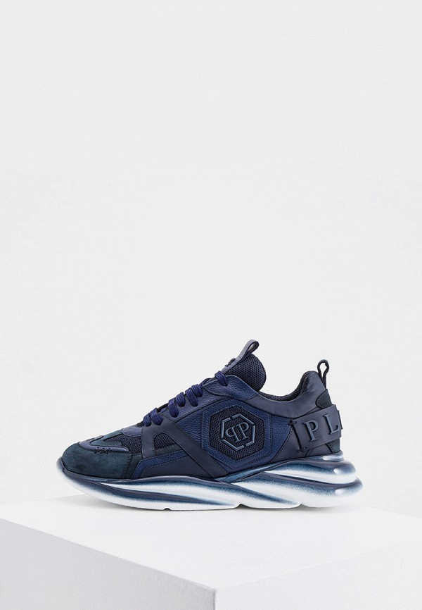 мужские низкие кроссовки philipp plein, синие