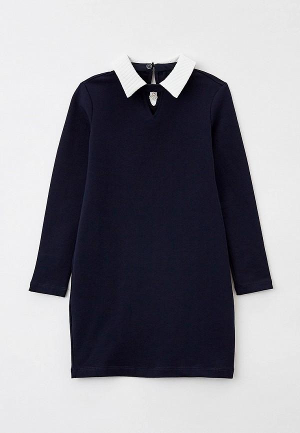 повседневные платье nota bene для девочки, синее