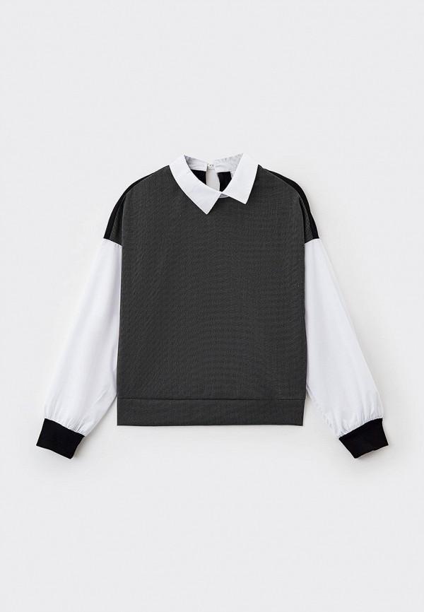 рубашка nota bene для девочки, серая