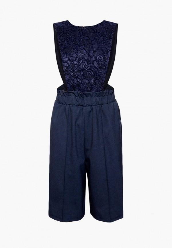 комбинезон с брюками nota bene для девочки, синий
