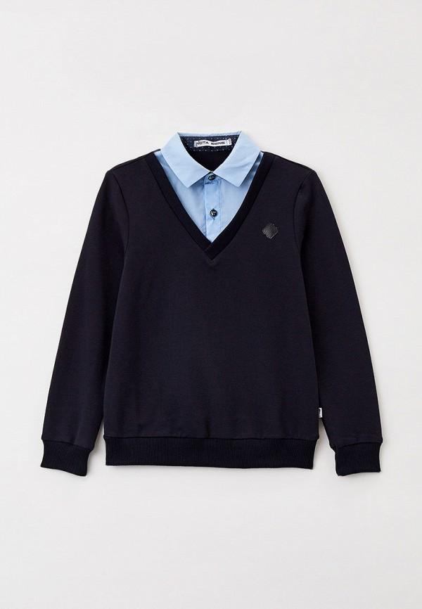 Пуловер Nota Bene синего цвета