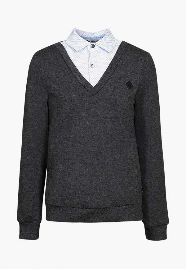 пуловер nota bene для мальчика, серый