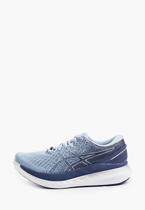 женские низкие кроссовки asics, голубые
