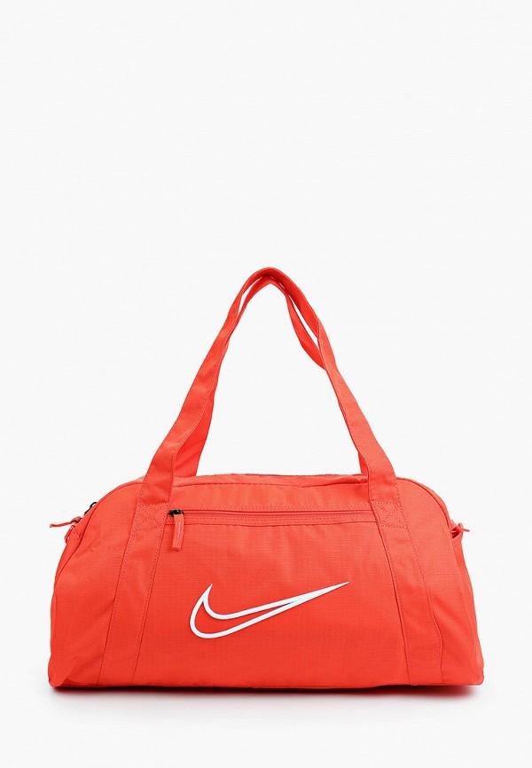 женская спортивные сумка nike, красная