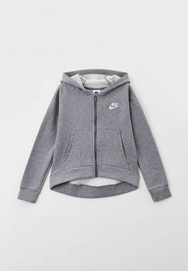 Толстовка Nike серого цвета