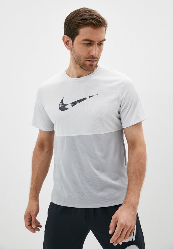 мужская спортивные футболка nike, серебряная