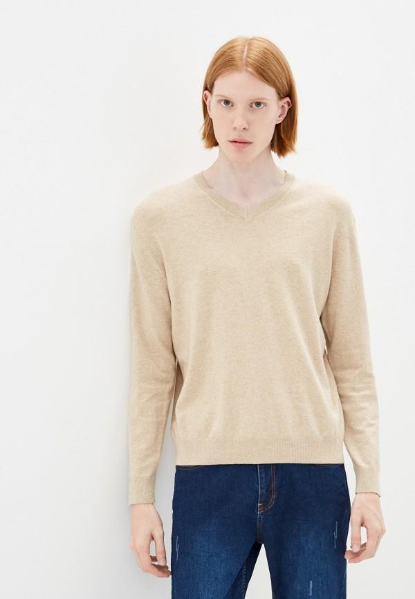 мужской пуловер united colors of benetton, бежевый