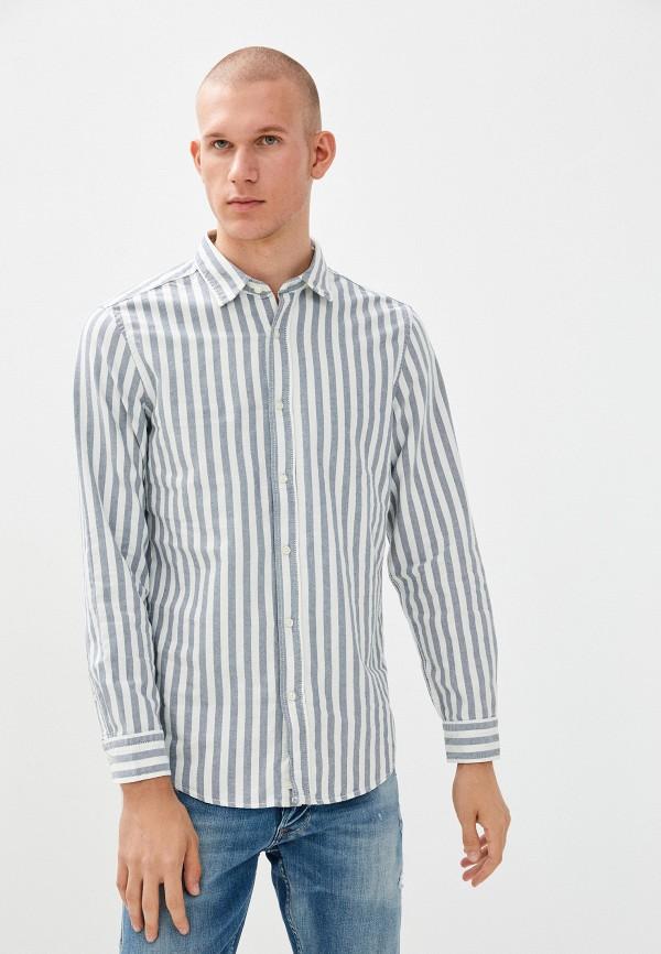 мужская рубашка с длинным рукавом united colors of benetton, голубая