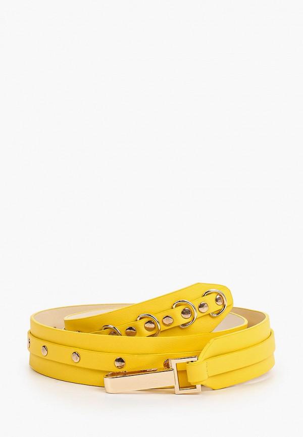 женский ремень united colors of benetton, желтый