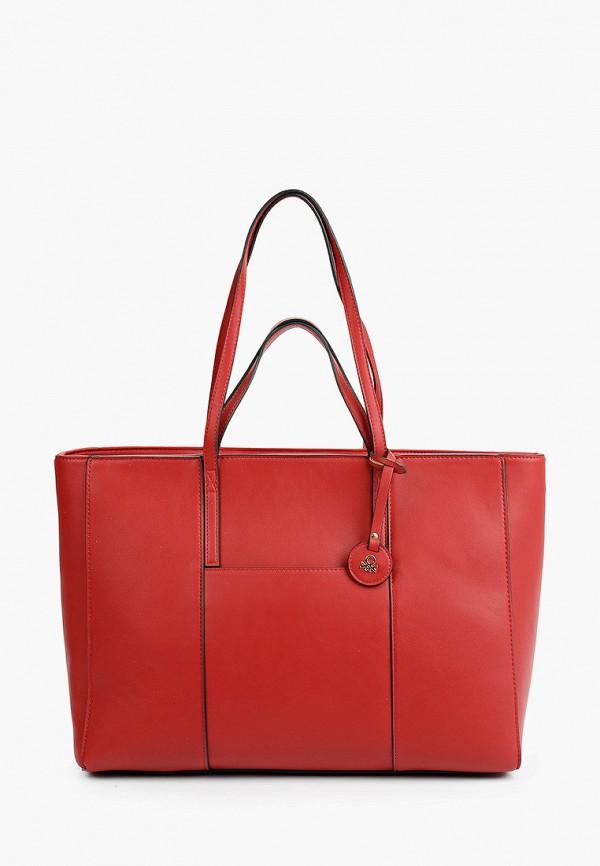 женская сумка с ручками united colors of benetton, красная