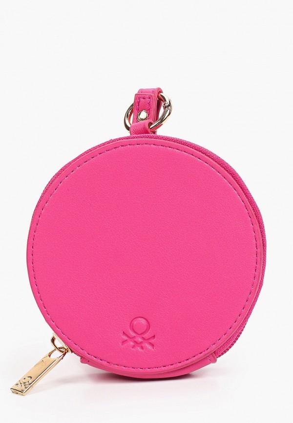 женский кошелёк united colors of benetton, розовый