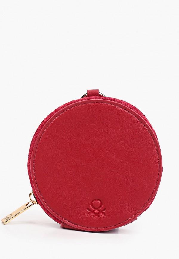 женский кошелёк united colors of benetton, бордовый