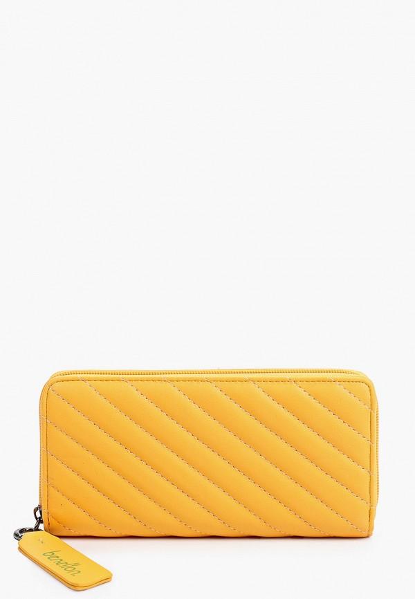 женский кошелёк united colors of benetton, оранжевый