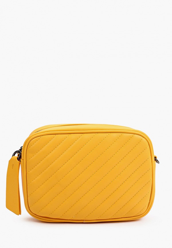 женская сумка через плечо united colors of benetton, желтая