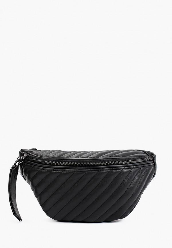 женская поясные сумка united colors of benetton, черная
