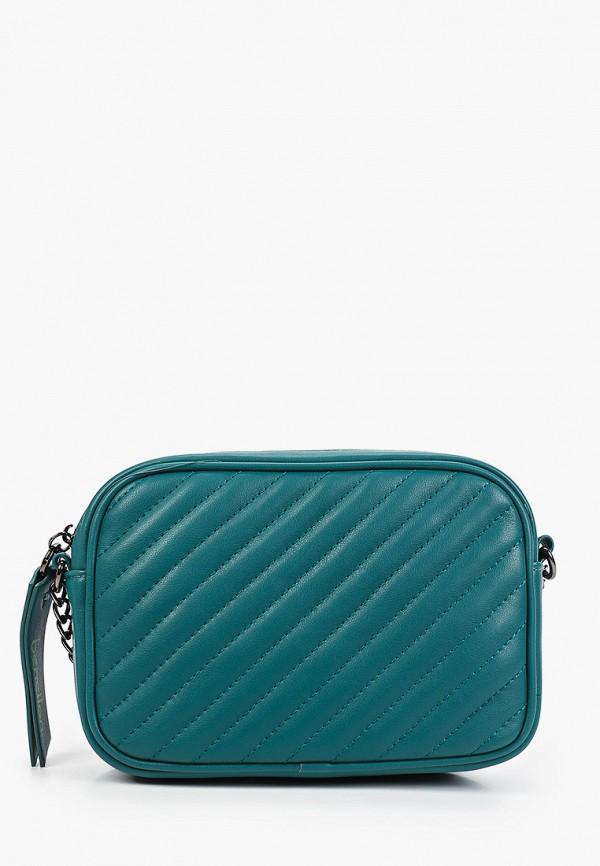 женская сумка через плечо united colors of benetton, зеленая