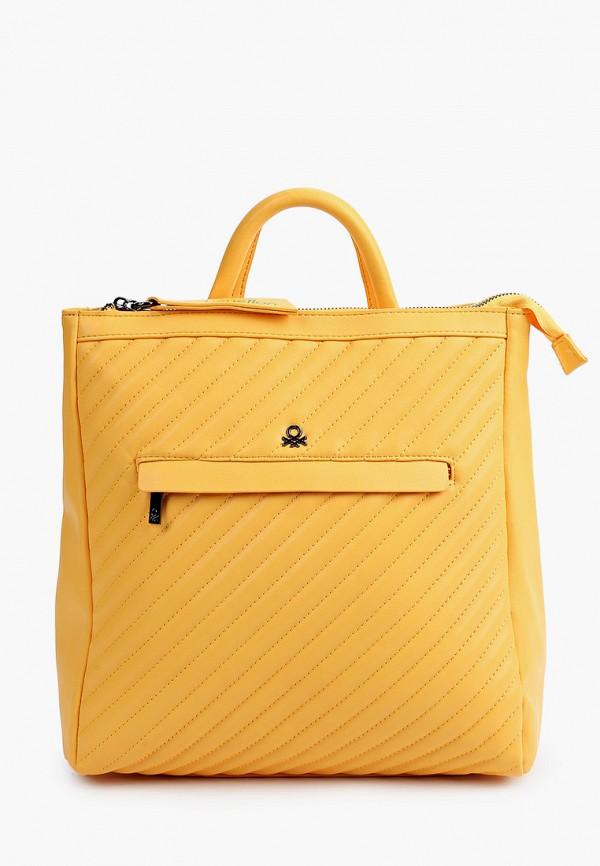 женский рюкзак united colors of benetton, желтый