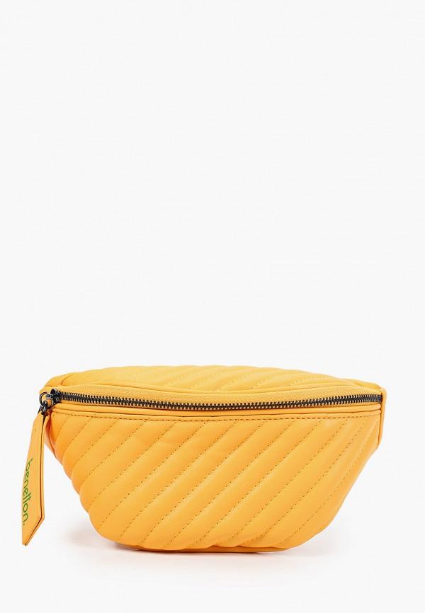 женская поясные сумка united colors of benetton, желтая