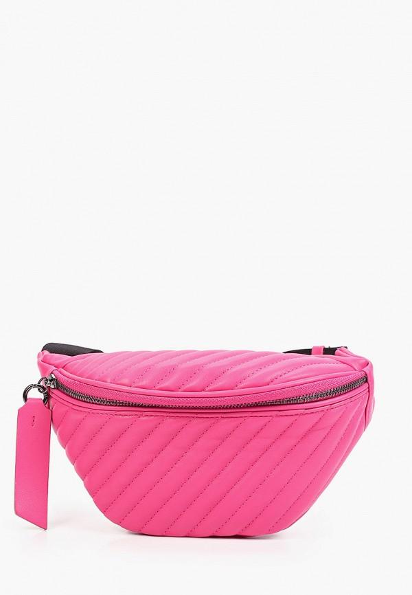 женская поясные сумка united colors of benetton, розовая