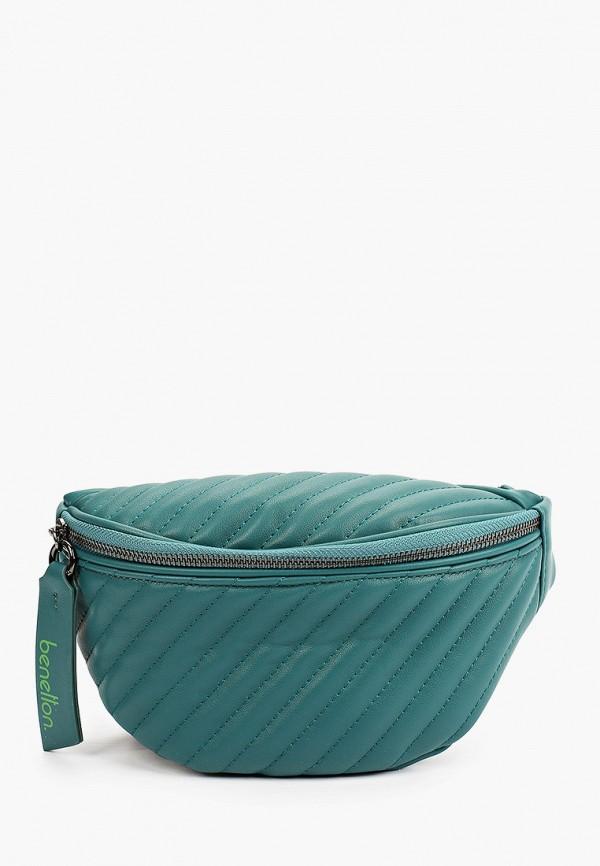 женская поясные сумка united colors of benetton, бирюзовая