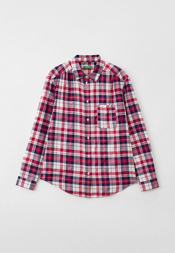 рубашка united colors of benetton для девочки, розовая
