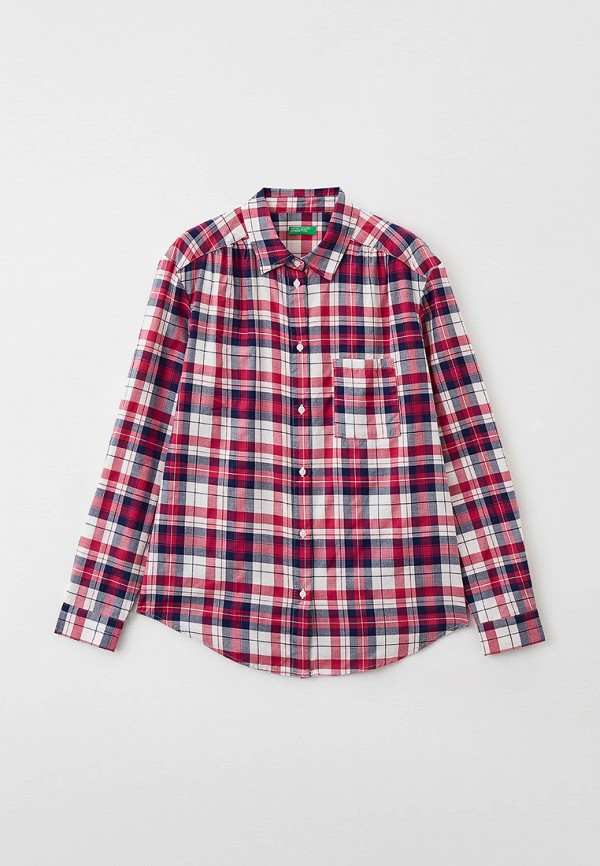 рубашка united colors of benetton для девочки, разноцветная
